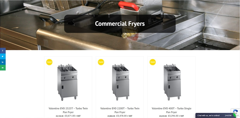 Vito uk website commercial fryers screenshot