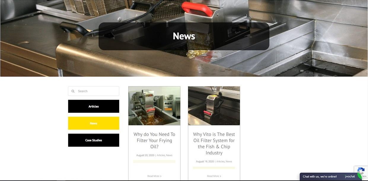 Vito uk website news screenshot