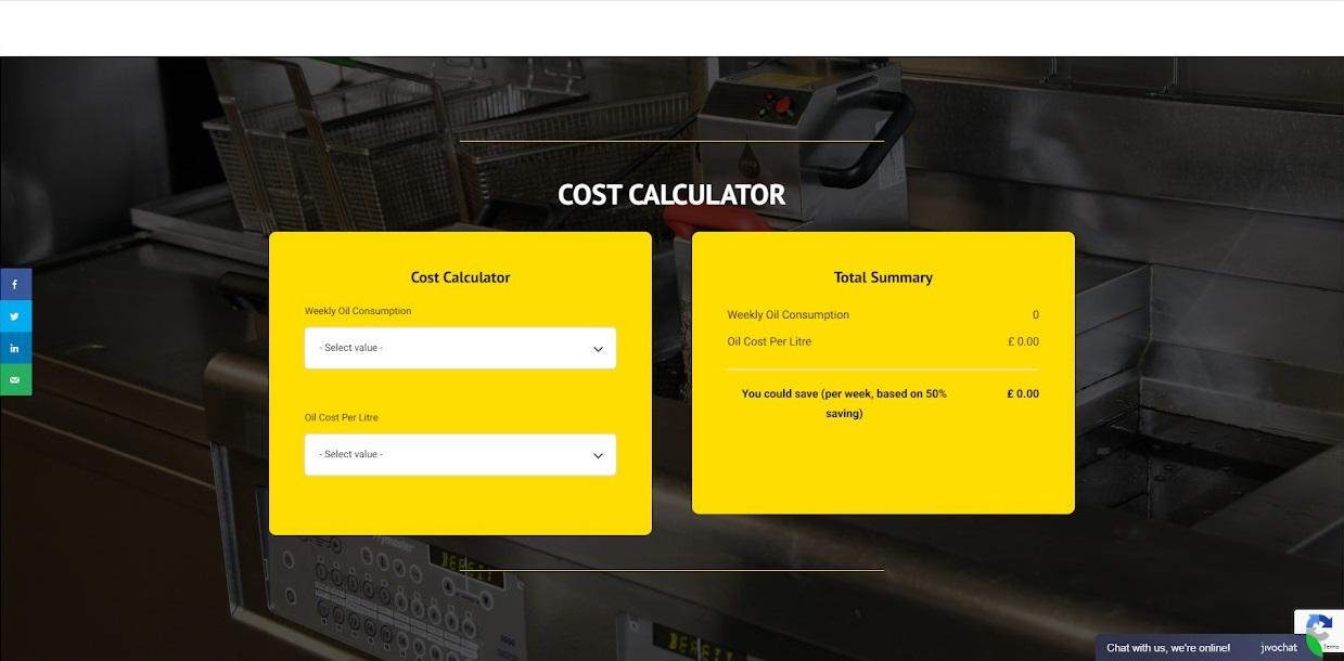 Vito uk website savings calculator screenshot