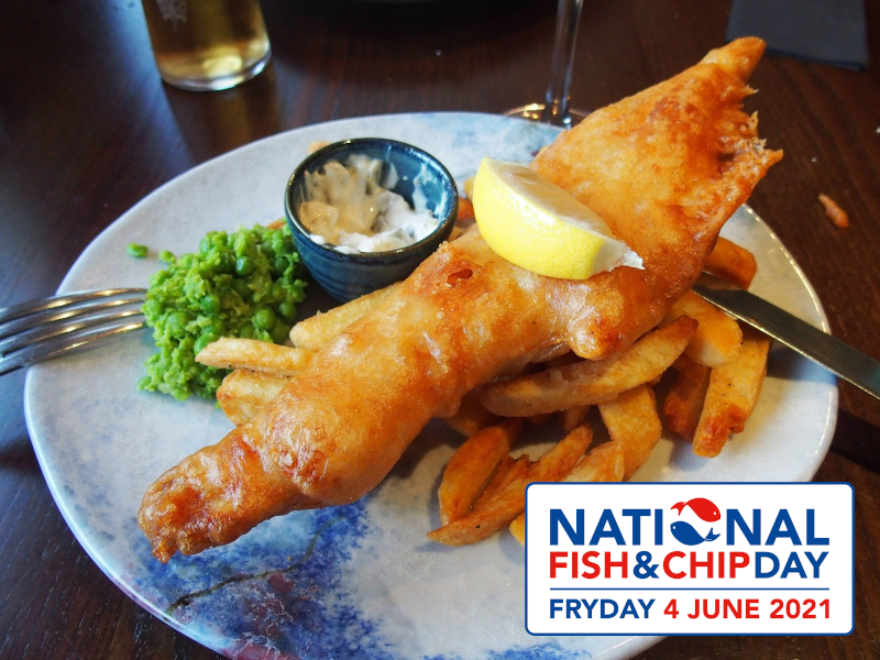 Celebrating fish and chips day 4th june 2021